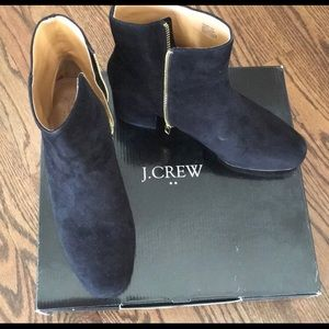 J.Crew Factory Suede Ankle Zipper Boots - Brandnew